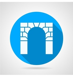 Flat icon for arch vector image vector image