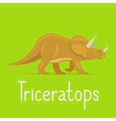 Triceratops dinosaur colorful card vector