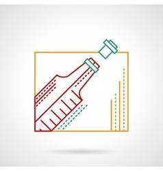 Wine thin color line icon vector image