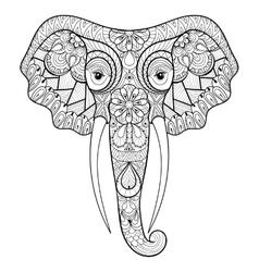 Zentangle stylized ethnic indian Elephant vector image vector image