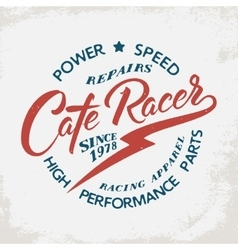 Cafe racer t-shirt print vector image vector image