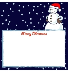 frame with snowmen vector image