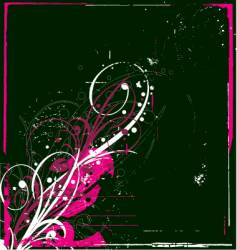 graphic bloom grunge vector image vector image