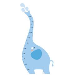 meter wall elephant vector image