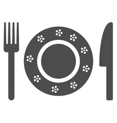 restaurant tableware icon vector image