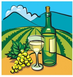 table wine vector image