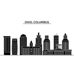 usa ohio columbus architecture city vector image