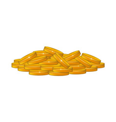 A pile of coins vector