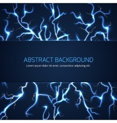 Abstract background with lightnings and text vector image