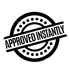 Approved Instantly rubber stamp vector image