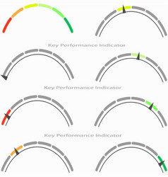 arc-shaped performance indicator with arrow vector image