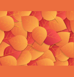 autumn background with red and orange leaves vector image