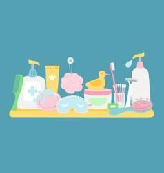 bathroom hygiene accessorises vector image