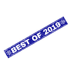 best of 2019 scratched rectangle stamp seal with vector image