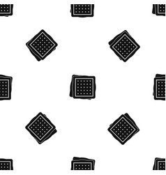 Biscuit pattern seamless black vector