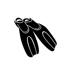 Black flippers for diving icon simple style vector