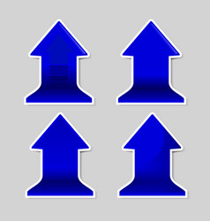 blue signs arrow with shadow vector image
