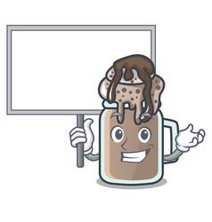 bring board milkshake character cartoon style vector image