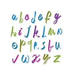 Calligraphic script font alphabet letters vector