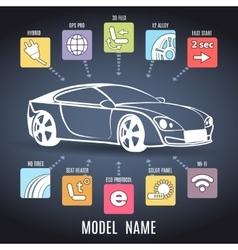 Car presentation poster vector