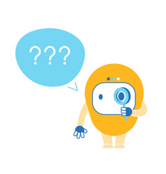 Chatbot with question marks ai robot faq customer vector