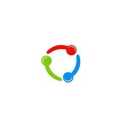 circle connection color logo vector image
