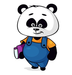 clever panda vector image
