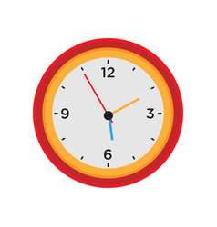 clock wall round time isolated white icon watch vector image