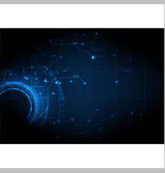 dark digital circuit digital technology vector image