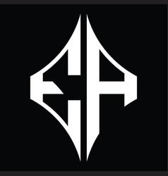 Ea logo monogram with diamond shape design vector