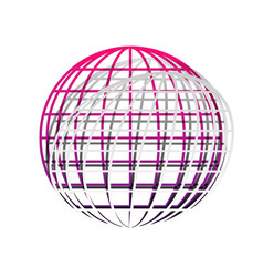 earth globe sign detachable paper with vector image