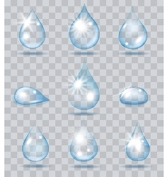 Falling water drops vector image