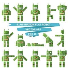 Flat robots vector