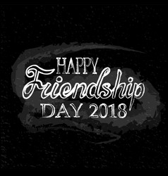 for friendship day greeting cards vector image