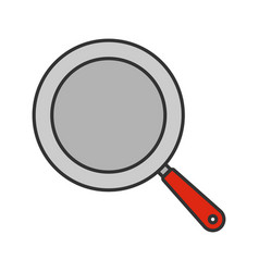 Frying pan color icon vector
