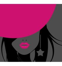 Funky girl vector