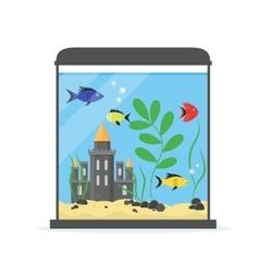 Glass Aquarium for Interior Home vector