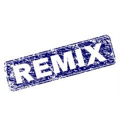Grunge remix framed rounded rectangle stamp vector