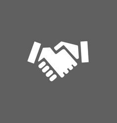 handshake icon on a dark background vector image