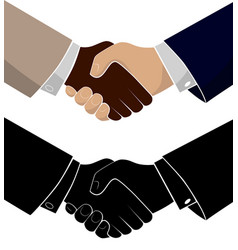Handshake of two business men conclusion of the vector