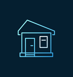 House concept colored outline icon or logo vector