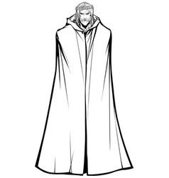jesus standing tall line art vector image