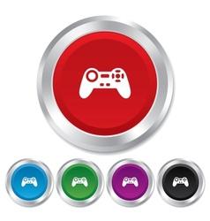 Joystick sign icon Video game symbol vector