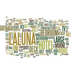 Laluna hotel morne rouge grenada text background vector