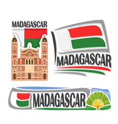 logo for madagascar vector image