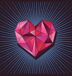 Love diamond concept vector