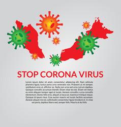 Malaysia infected corona virus vector