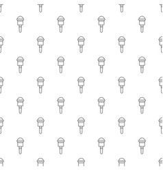 microphone pattern seamless vector image