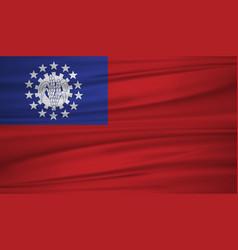myanmar flag flag of myanmar blowig in the wind vector image