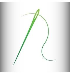Needle with thread vector